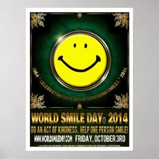 Poster 2014 oficial de Day® do sorriso do mundo Pôster