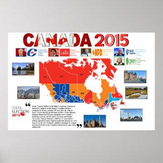 Poster 2015 da eleição de Canadá