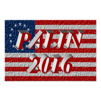 Poster 2016, vermelho claro 3D, Betsy Ross de PALI