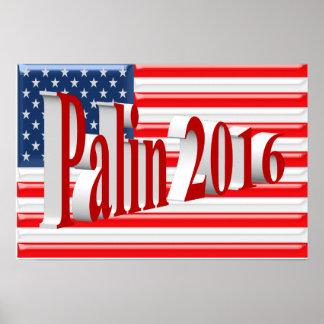 Poster 2016, vermelho claro 3D, glória de PALIN ve
