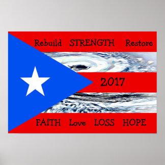 Poster 2017 da bandeira de Maria Puerto Rico do