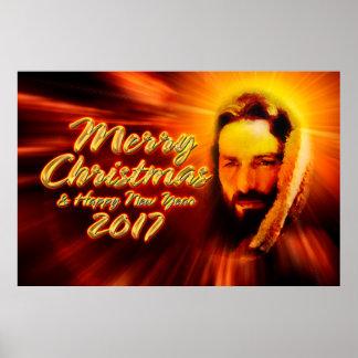 Poster 2017 de Jesus do feliz ano novo do Feliz