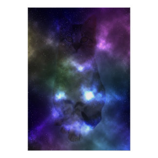 """Poster 20"""" do gato da nebulosa da galáxia x 28"""""""