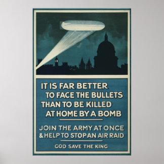"""Poster 20"""" do recrutamento do exército britânico"""