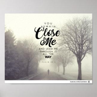 Pôster 23:4 do salmo - você permanece perto de mim