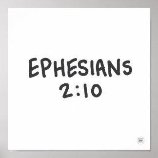 Poster 2:10 de Ephesians