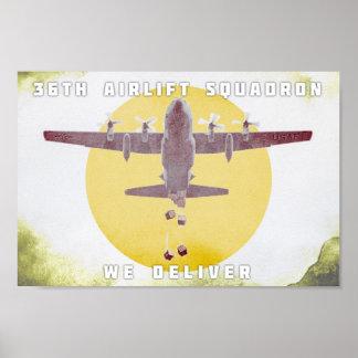 Poster 36th Esquadrão do transporte aéreo nós entregamos