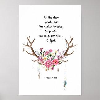 Pôster 42:1 do salmo