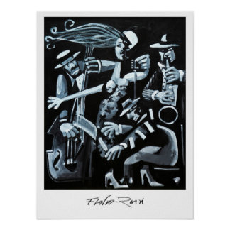 Poster 45,72x60,96cm: Jazz by Flavio Rossi Pôster