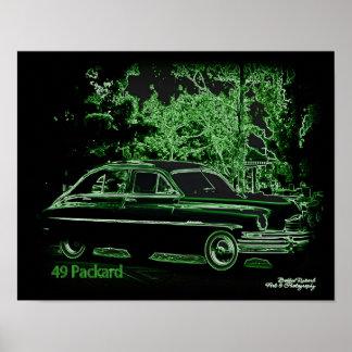 Pôster 49 Packard no néon
