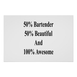 Poster 50 barman 50 bonito e 100 impressionantes