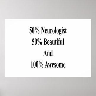 Pôster 50 neurologista 50 bonito e 100 impressionantes