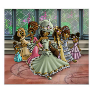 "Poster ""7 princesas """