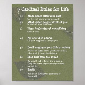 Pôster 7 regras cardinais para a VIDA