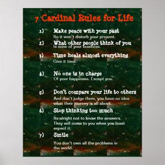 Poster 7 regras cardinais para a VIDA