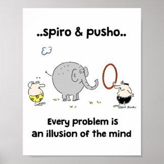 Poster 8x10 das citações dos animais de Spiro & de Pôster