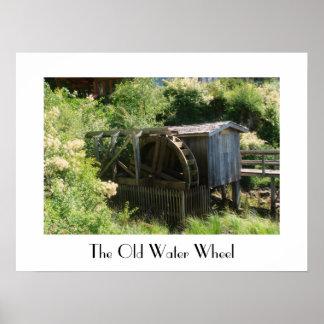 Pôster A água velha roda dentro o Columbia Britânica