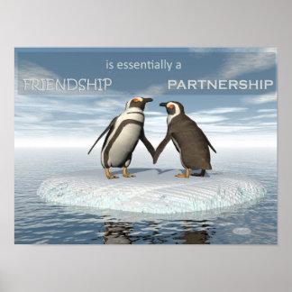 Poster A amizade é essentailly uma parceria