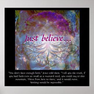 Pôster A árvore de vida apenas acredita