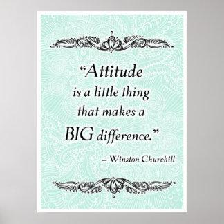 Pôster A atitude é uma coisa pequena - Quote´s positivo
