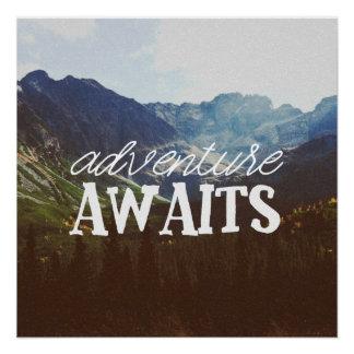 Pôster A aventura espera