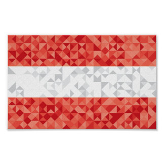 Poster A bandeira abstrata de Áustria, austríaco colore o