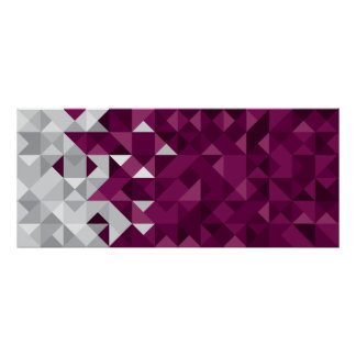 Poster A bandeira abstrata de Qatar, Qatari colore o