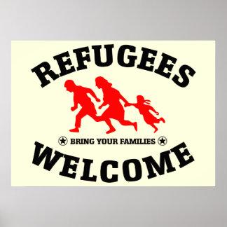 Poster A boa vinda dos refugiados traz suas famílias