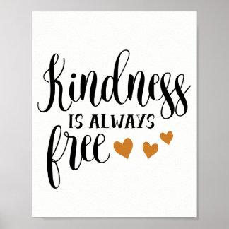 Pôster A bondade é sempre livre, amor e cafetaria
