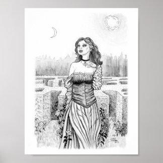 Pôster A bruxa do amante no jardim