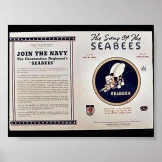 Poster A canção dos Seabees