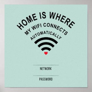 Poster A casa é o lugar onde meu wifi conecta