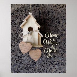Pôster A casa é o lugar onde o coração é decoração home