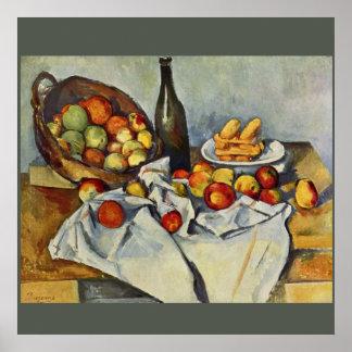 Poster A cesta das maçãs por Paul Cezanne