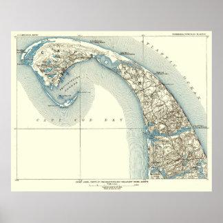 Pôster A costa alinha o 10:8 de Provincetown Truro