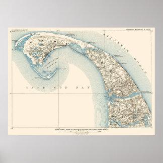 Pôster A costa alinha Provincetown Truro e Wellfleet