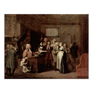 Pôster A denúncia por William Hogarth