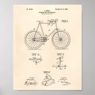 Poster A engrenagem de direcção Bicycles uma arte Peper
