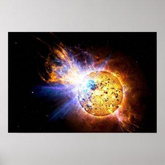 Pôster A estrela do Pipsqueak desencadeia a NASA gigante