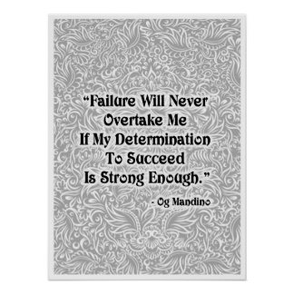 Poster A falha nunca alcançará - Quote´s positivo