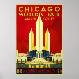 Poster A feira de mundo de Chicago um o século da expo do
