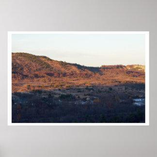 Pôster A foto das montanhas de Pocono