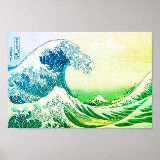 Poster A grande onda fora de Kanagawa