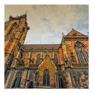 Pôster A igreja de St Martin, Colmar, France