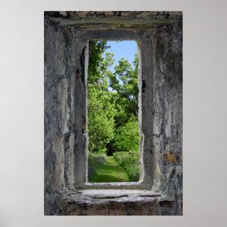 Poster A ilusão da janela do castelo cria o efeito da