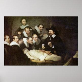 Poster A lição da anatomia do Dr. Nicolaes Tulp.