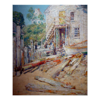 Poster A loja do Rigger de Childe Hassam, Provincetown,