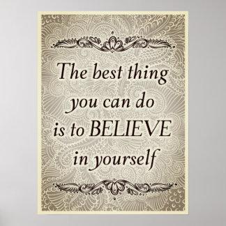 Pôster A melhor coisa - Quote´s positivo
