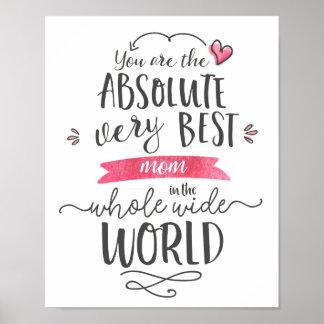Poster A melhor mamã no mundo largo do todo