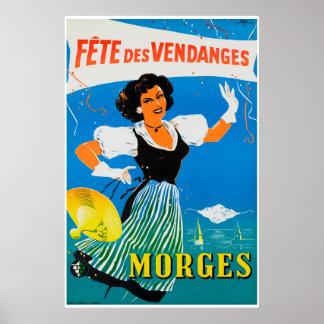 Poster À Morges do DES Vendanges de Fête